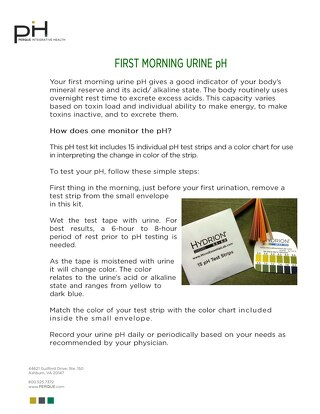 FIRST MORNING URINE pH