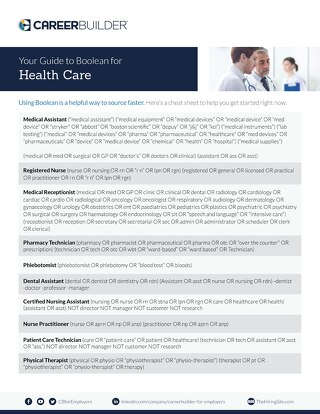 Health Care Boolean Search Flyer