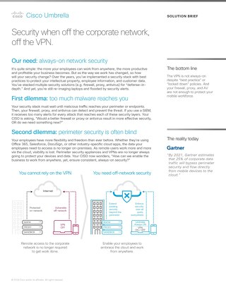 Off-Network Security without VPN