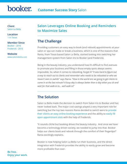 Case Study: Salon La Bella
