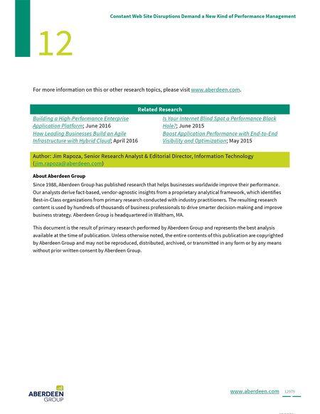 eBooks - Aberdeen Research Report - Constant Website Disruptions ...