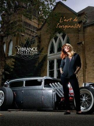 Dépliant de présentation de la marque Vibrance Collection