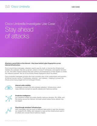 Investigate Use Case: Stay Ahead of Attacks