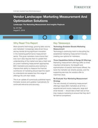 Forrester: Vendor Landscape Marketing Measurement and Optimization Solutions