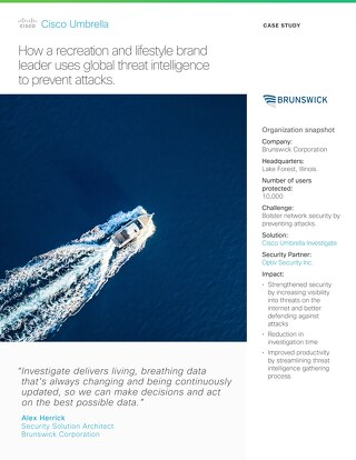 Brunswick Uses Global Threat Intelligence to Prevent Attacks