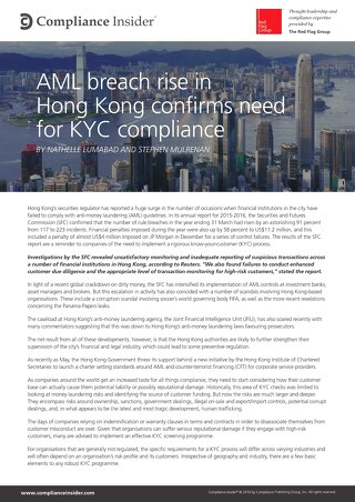 AML breach rise in Hong Kong confirms need for KYC compliance