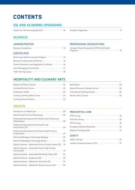 NAIT - NAIT Fall Continuing Education Course Calendar 2016-17