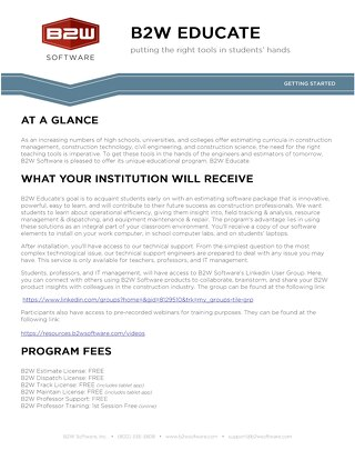 2016 B2W Educate Form