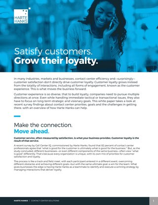 Satisfy customers. Grow their loyalty.
