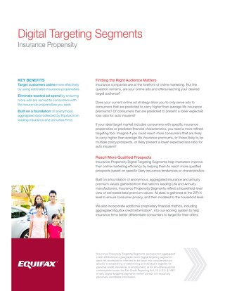 Digital Targeting Segments - Insurance
