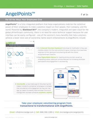 AngelPoints One Sheet