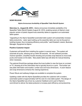 SpeedSet Press Release 082216