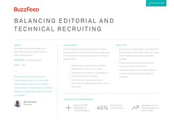 Balancing Editorial and Technical Recruiting at BuzzFeed