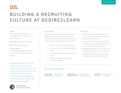 Building a Recruiting Culture at Desire2Learn