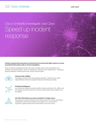 Investigate Use Case: Speed Up Incident Response