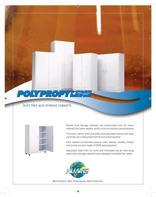 [Flyer] Polypropylene Acid Storage Cabinets Flyer