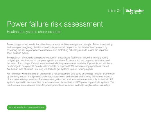 Power Failure Risk Assessment