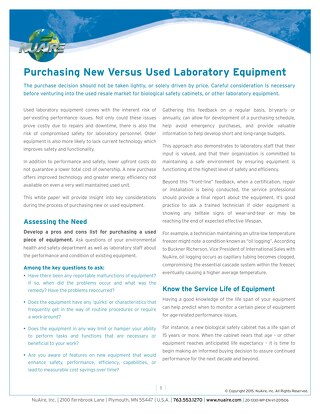 [White Paper] Buying New vs Used Lab Equipment