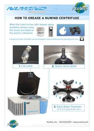[Infographic] NuWind Centrifuge How to Grease