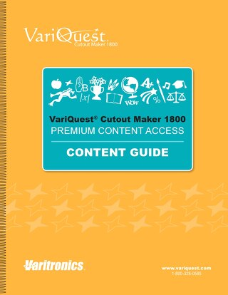 2016 Cutout Maker Content Guide