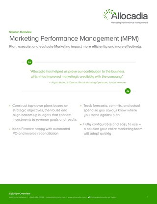 Marketing Performance Management (MPM) Overview