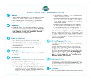 [Infographic] Hazardous Drug Biosafety Cabinet Operating Procedure