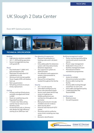 UK Slough 2 Data Center Tech Spec