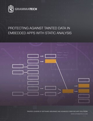 Protecting Against Tainted Data in Embedded Apps with Static Analysis