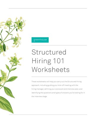 Structured Hiring 101 Worksheets