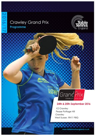 2016 Crawley Grand Prix online programme