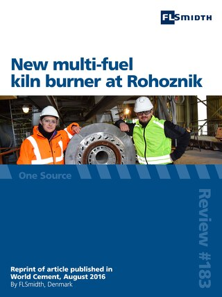 New multi-fuel kiln burner at Rohoznik