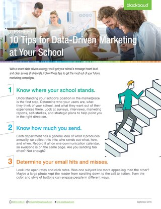 10 Tips for Data-Driven Marketing at Your School