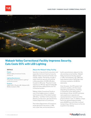 Wabash Valley Correctional Facility Improves Security and Cuts Costs With New LED Lighting