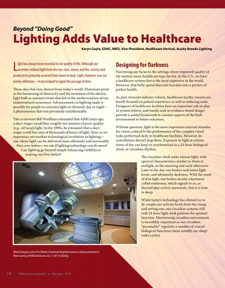 "Beyond ""Doing Good,"" Lighting Adds Value to Healthcare"