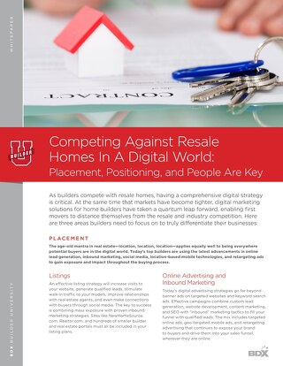 Competing Against Resale Homes