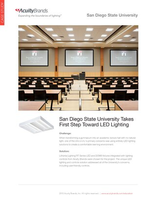 San Diego State University Takes First Step Toward LED Lighting