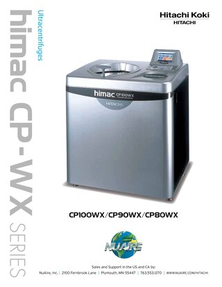 [Brochure] Hitachi CP-WX Ultracentrifuge