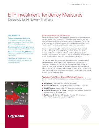 ETF Investment Tendency Measures