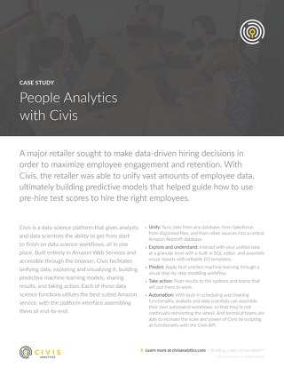 Civis Analytics Case Study - People Analytics with Civis