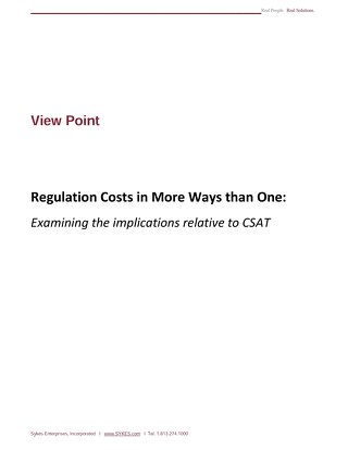Regulation Costs in More Ways Than One
