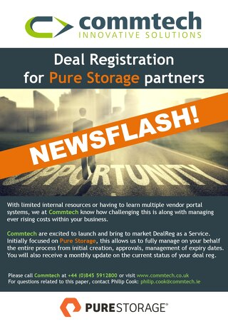 Commtech & Pure Storage Deal Reg