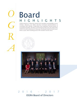 OGRA Board of Directors Highlights June 2016