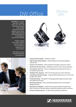 Sennheiser DW Office DECT Headset [Brochure]