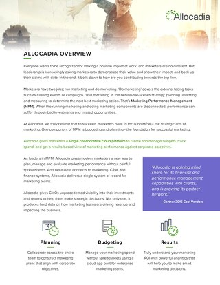 Allocadia General Overview