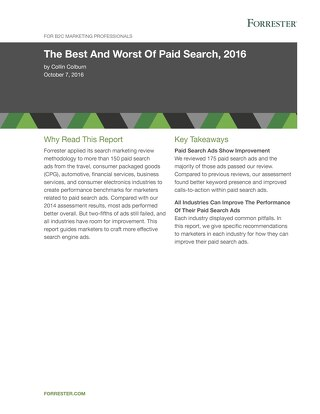 Forrester Report - The Best and Worst of Paid Search 2016