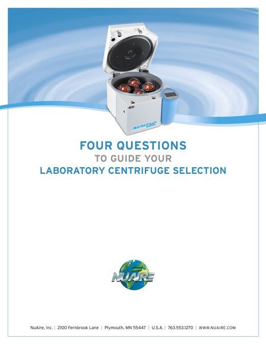 [White Paper] Four Questions to Guide Centrifuge Selection