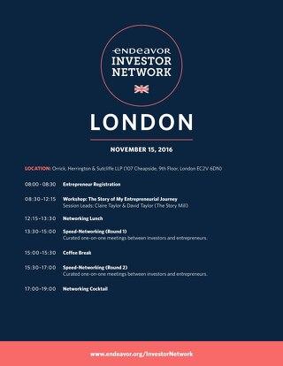 EIN London Agenda (Entrepreneur)