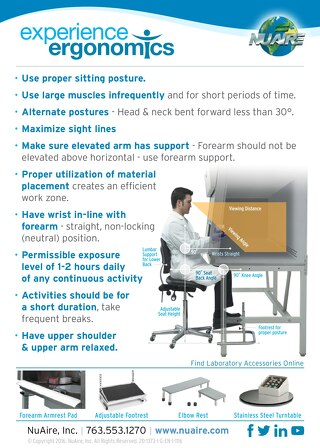 [Infographic] Biosafety Cabinet Ergonomic Tips
