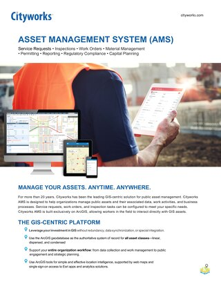 Cityworks Server AMS: Asset Management Solution