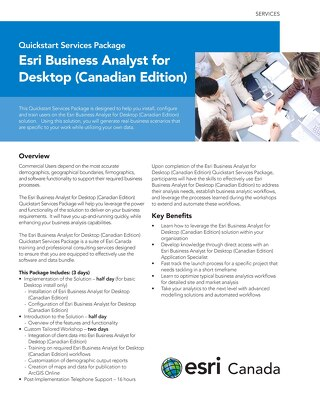 Esri Business Analyst for Desktop (Canadian Edition)